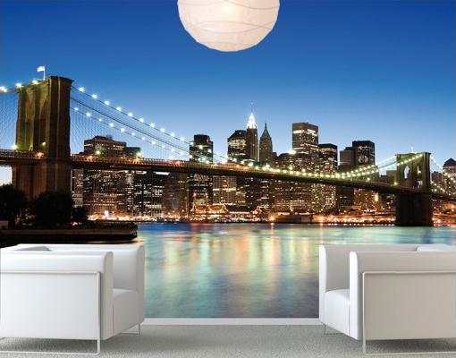 Manhattan Brooklyn híd - egész falas poszter tapéta