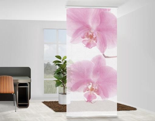 Elegáns, nőies, dekoratív orchidea design fotó térelválasztó függöny
