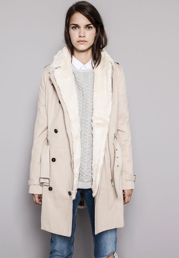 Pull&Bear kabát kivehető szőrmebéléssel 15995 Ft