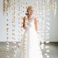 Virágfal, a legszebb esküvői dekoráció