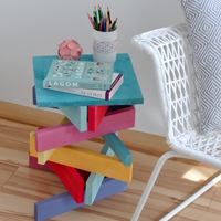 DIY-ajándék: így készül a szivárványszínű asztal!