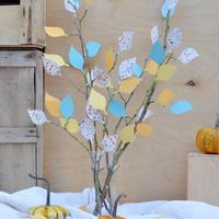 Csináld magad: őszi dekoráció színes falevelekből