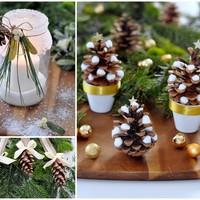 Csináld magad: három mesés téli dekoráció tobozból