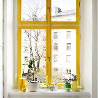 Függöny helyett színes ablakkeret! Miért ne?
