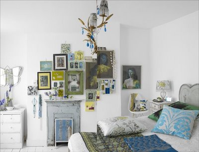 James Merrell white bedroom picture frame collection.jpg