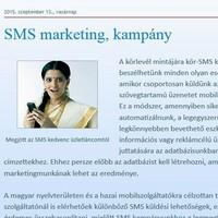 Tömeges SMS küldő szolgáltatás