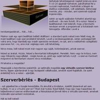 Szerver hosting Budapest