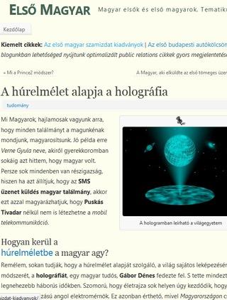 első magyar prcikk weboldal