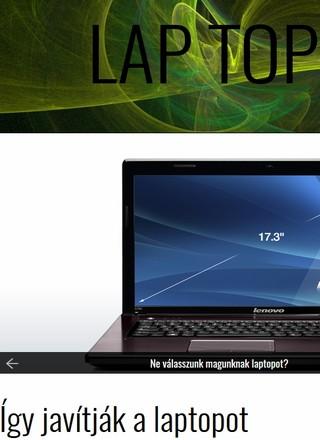 weblap: laptop-kijelző típusok