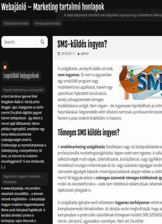 tartalom-marketing - honlap optimalizalas - sms