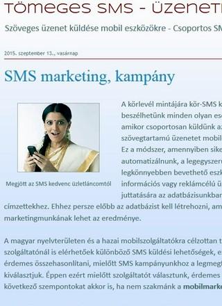 tömeges sms-küldés - mobilmarketing