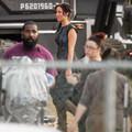 Jennifer Lawrence Az éhezők viadala: Futótűz forgatásán