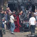 Chris Hemsworth és Jaimie Alexander a Thor 2 forgatásán