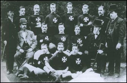 A Gorton AFC csapata 1884-ben.
