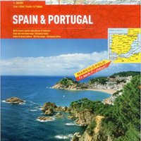 \\TOP\\ Spain / Portugal Marco Polo Road Atlas. which School English Orange materias hitherto
