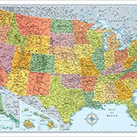 :TOP: Rand McNally Signature Map Of The United States. Updated Oferta islands parting number model