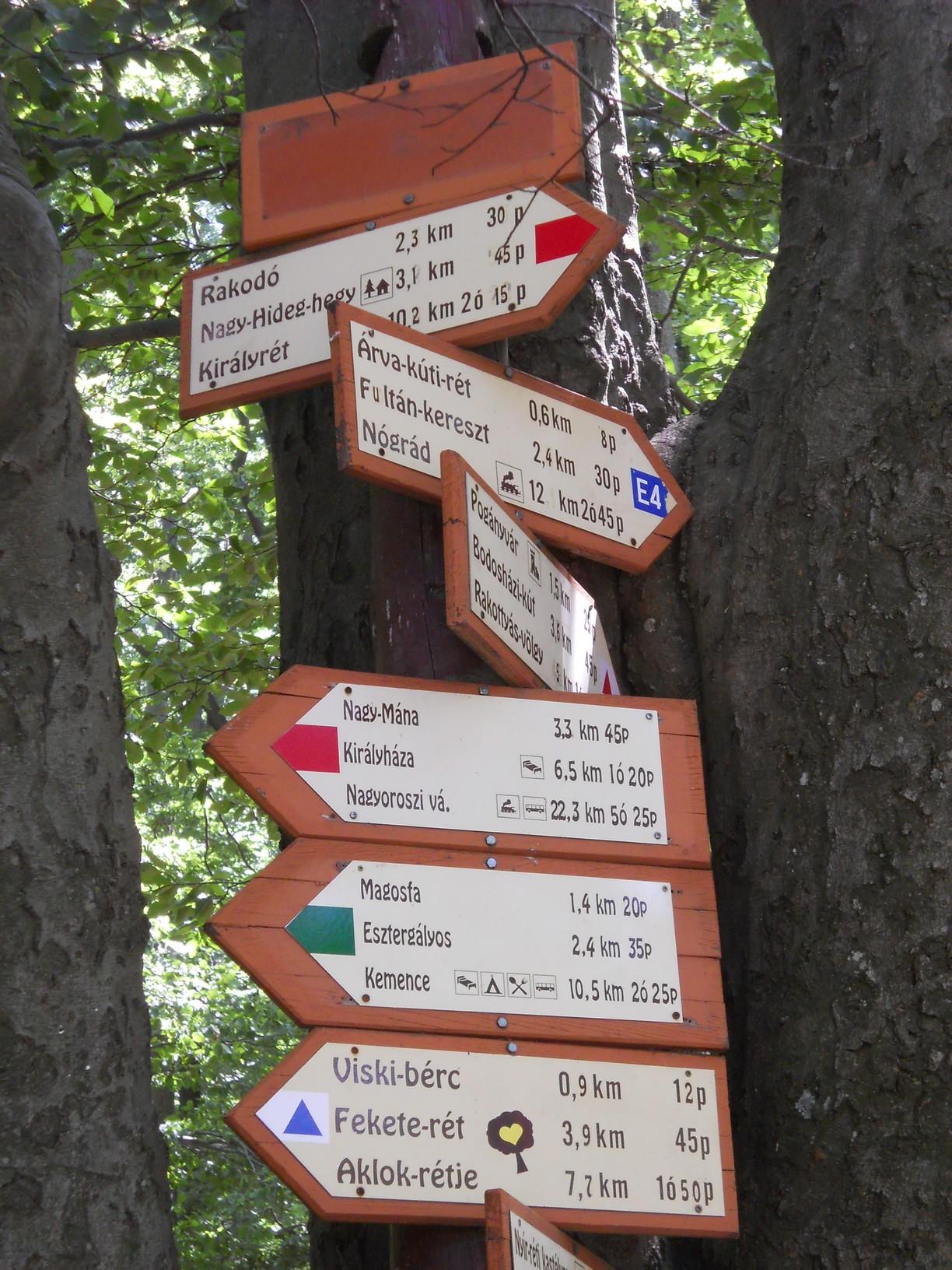 Eligazító táblák rengetegében a Csóványoson
