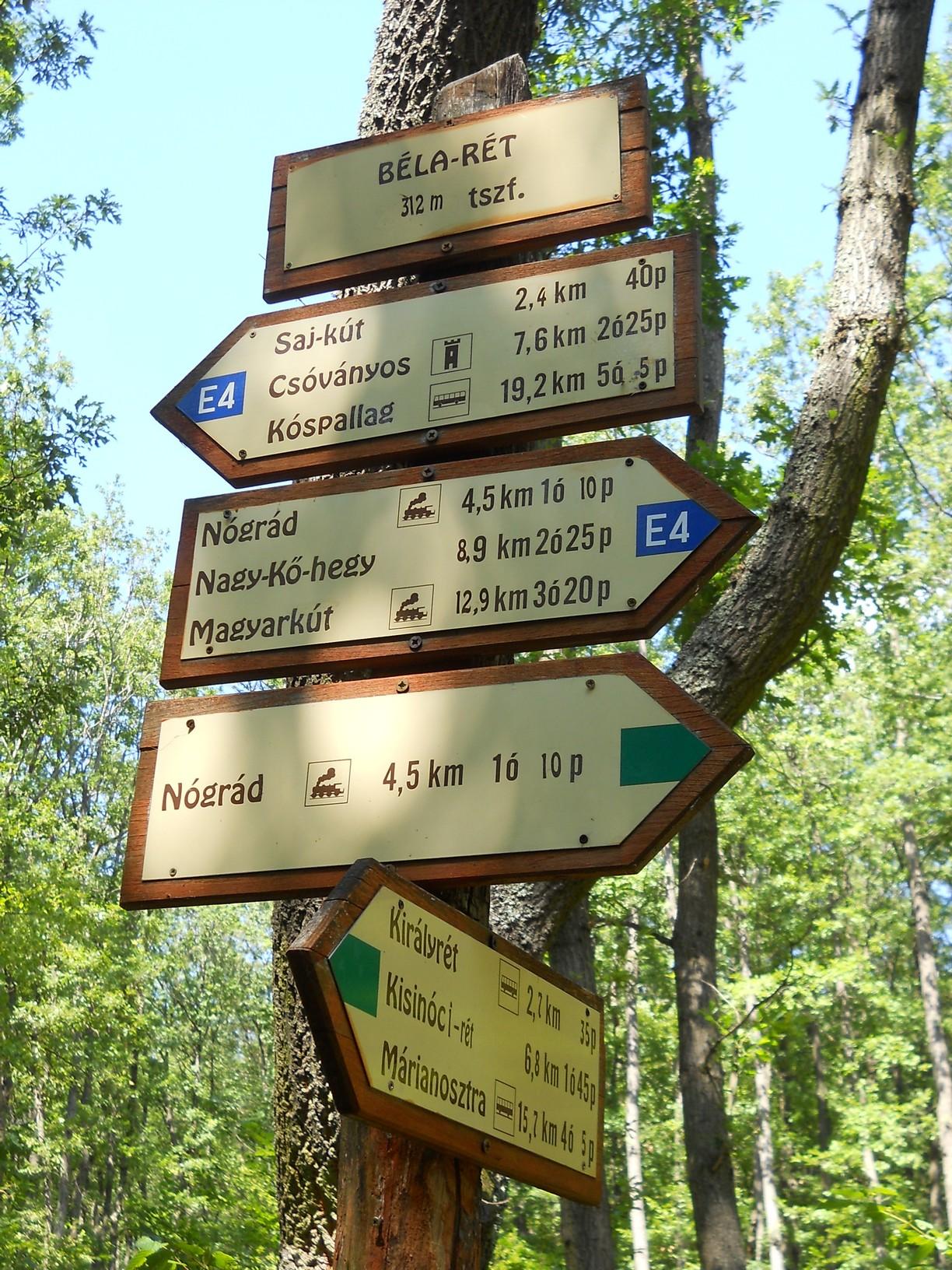A Béla-réttől már könnyű út vezet a nógrádi vasútállomásig