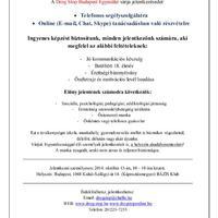 Jelentkezz önkéntesnek a Drog Stop Budapest Egyesülethez!