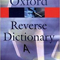 The Oxford Reverse Dictionary David Edmonds