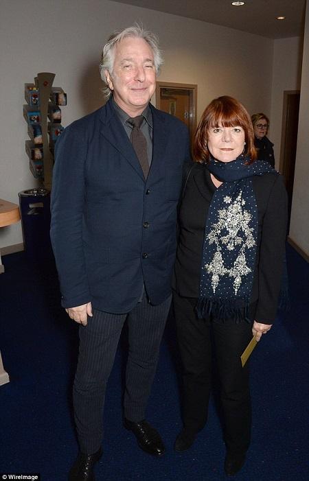Alan Rickman és felesége, Rima Horton