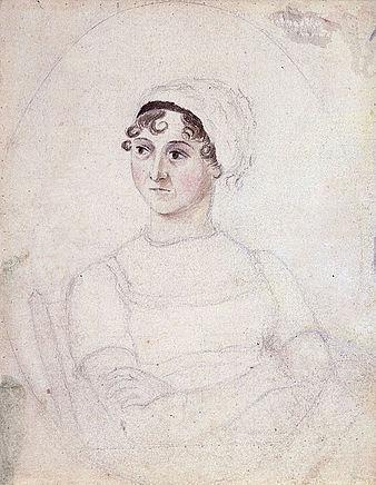 Jane Austen leghíresebb portréját eredetileg a nővére, Cassandra készítette 1810 körül.