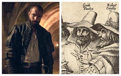 Korabeli forrásokból tudható, hogy Guy Fawkes vörös hajú volt. Ebben nem pontos történetileg a BBC sorozata, de Tom Cullen alakítására így sem lehet panasz.