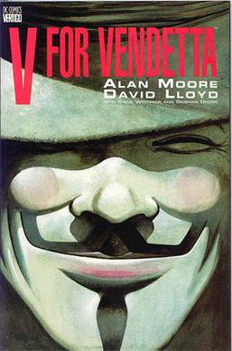 V legendás álarcát David Lloyd rajzolta, hiszen ő illusztrálta a képregényt.
