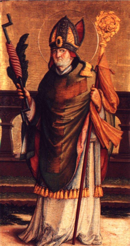 Antióchiai Szent Erazmus (Elmo, ?-303), a hajósok védelmezője, aki akkor sem ijedt meg, amikor villám csapott le mellette.