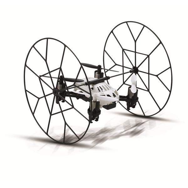 Eachine H1 Sky walker: nano quadkopter, amihez jár egy keret, amivel a gép fel tud mászni pl. a plafonra és ott gurulni tud. Két színben érhető el. 5.500 Ft körül kapható