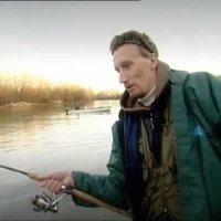 Januári gumihalas harcsa a Tiszáról