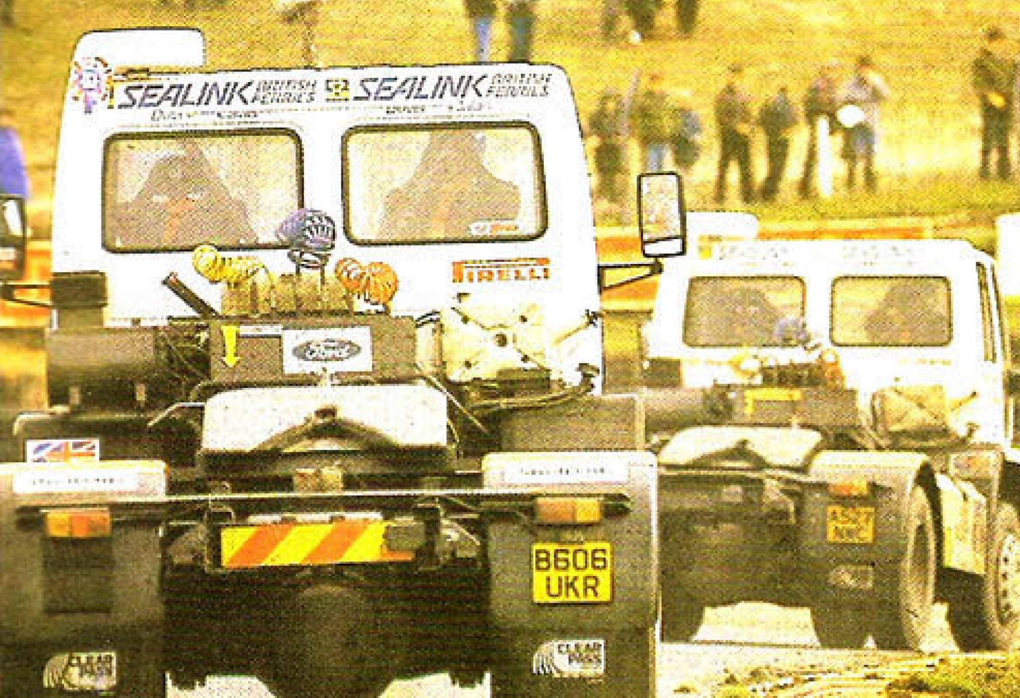 Traktorok - hátulnézetből. A nyergesvontatók még így is esztétikus látványt nyújtanak