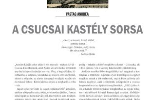 Vastag Andrea: A csucsai kastély sorsa - Megjelent a Trianoni Szemle 2018. évi dupla (I.-II.) számában