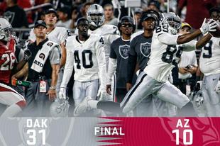 Raiders győzelem az Arizona Cardinals ellen