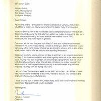 A Jordán herceg levele