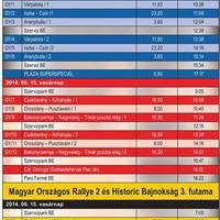 Székesfehérvár Rally nevezések és programterv