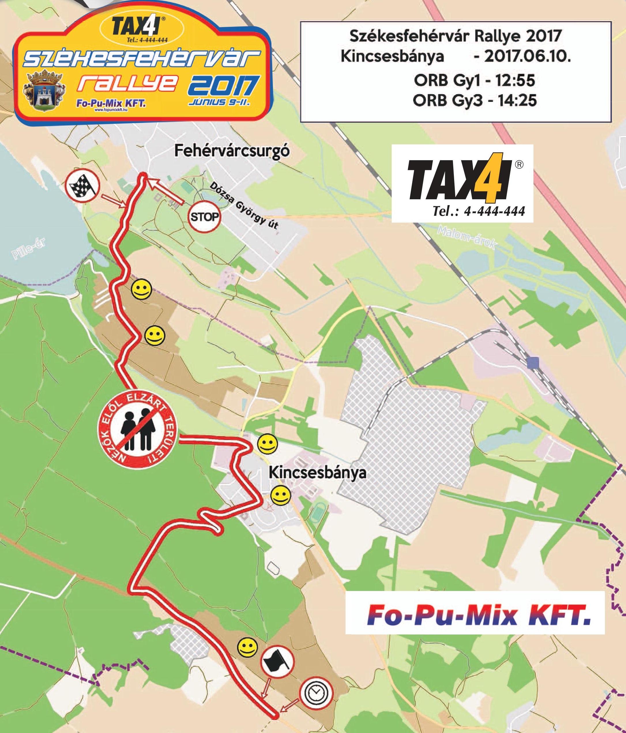 eger rally térkép Hogyan közelítsük meg a Fehérvár rali szombati nézői pontjait  eger rally térkép