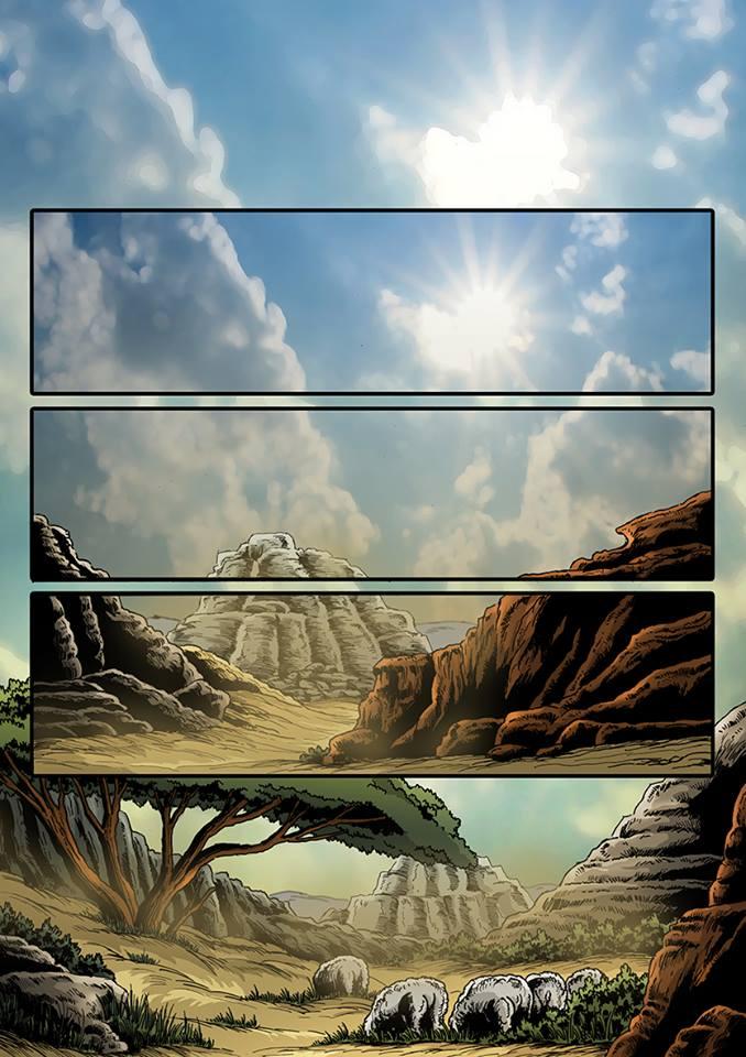 A képregény végleges verziójának első oldala – ám eddig hosszú út vezetett