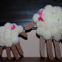 Kezes bárányok húsvétra - egyszerű, látványos s nagyszerű időtöltés a gyerkőccel együtt elkészíteni