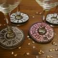 Szilveszteri pohárjelölő házi készítésű konfettivel ízlés szerint tálalva