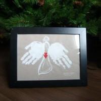Karácsonyi angyalka tenyérlenyomatos szárnyakkal - avagy a kicsik is megajándékozhatják a felnőtteket