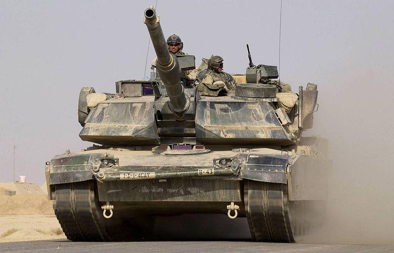 Amerikai Abrams tank Irakban