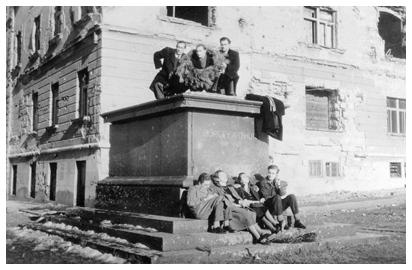 A budai Vár, 1945 (a Fortepan gyűjteményéből)
