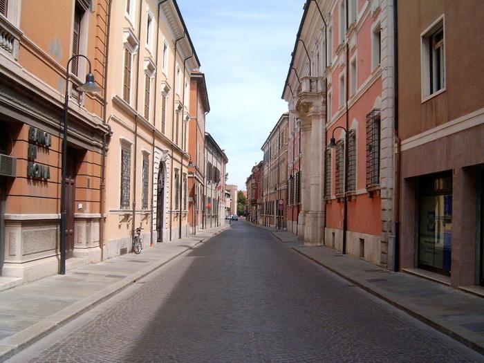 Macskaköves utca Ravennában