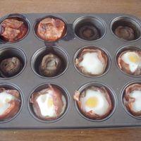 Muffin sütőben sült tojás és egyebek