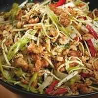 Csirkemelles tészta wokban