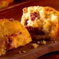 Bazsalikomos-paradicsomos muffin