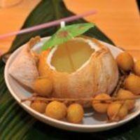 Zöld kókusztej longan gyümölccsel (Vacsoracsata)