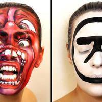 Albumborítók arcra festve - ismét