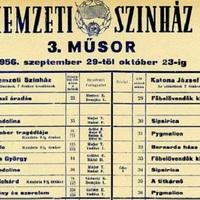 Egy kis CAFe Budapest mára? Fél hétkor a színház előtt: Pesti műsor 1956
